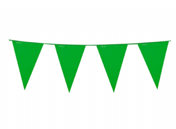Green Pennant Bunting 10 Plastic